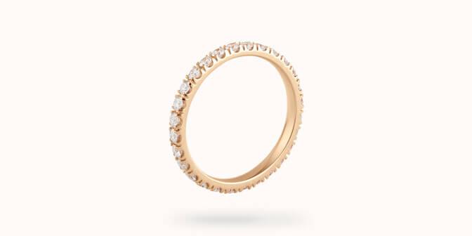 alliance or jaune diamant griffe