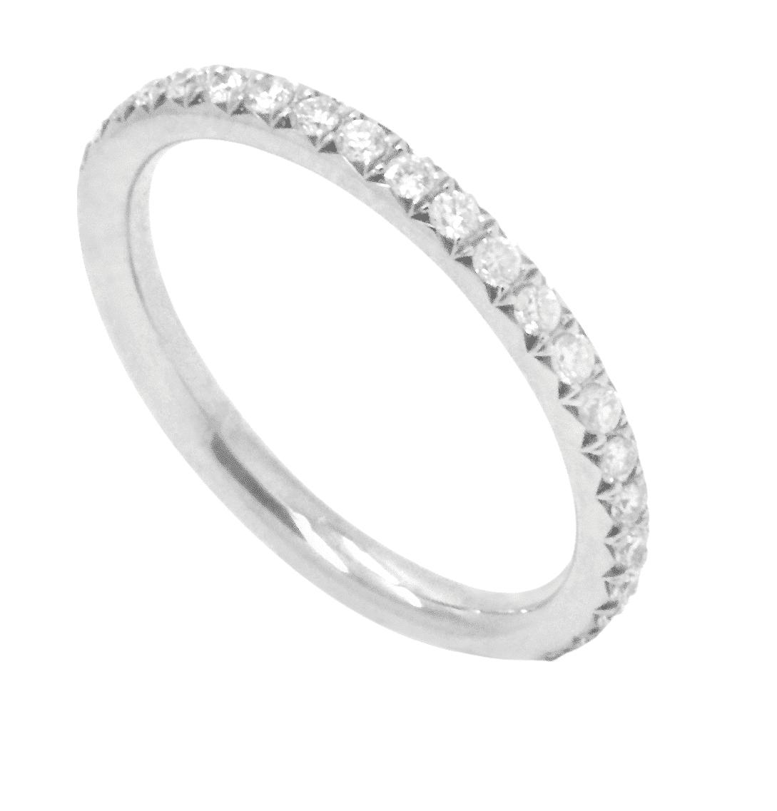 bague alliance or blanc et diamant