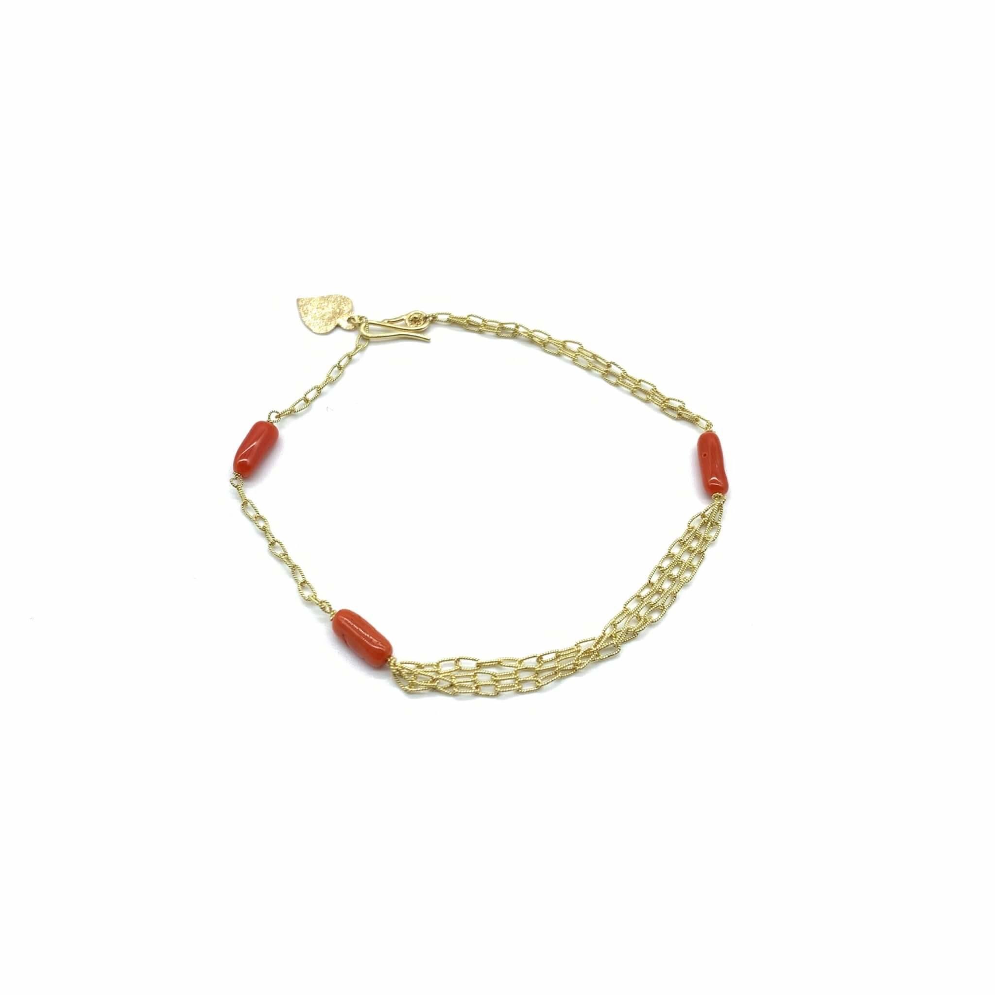 Caterina Murino bracelet corail