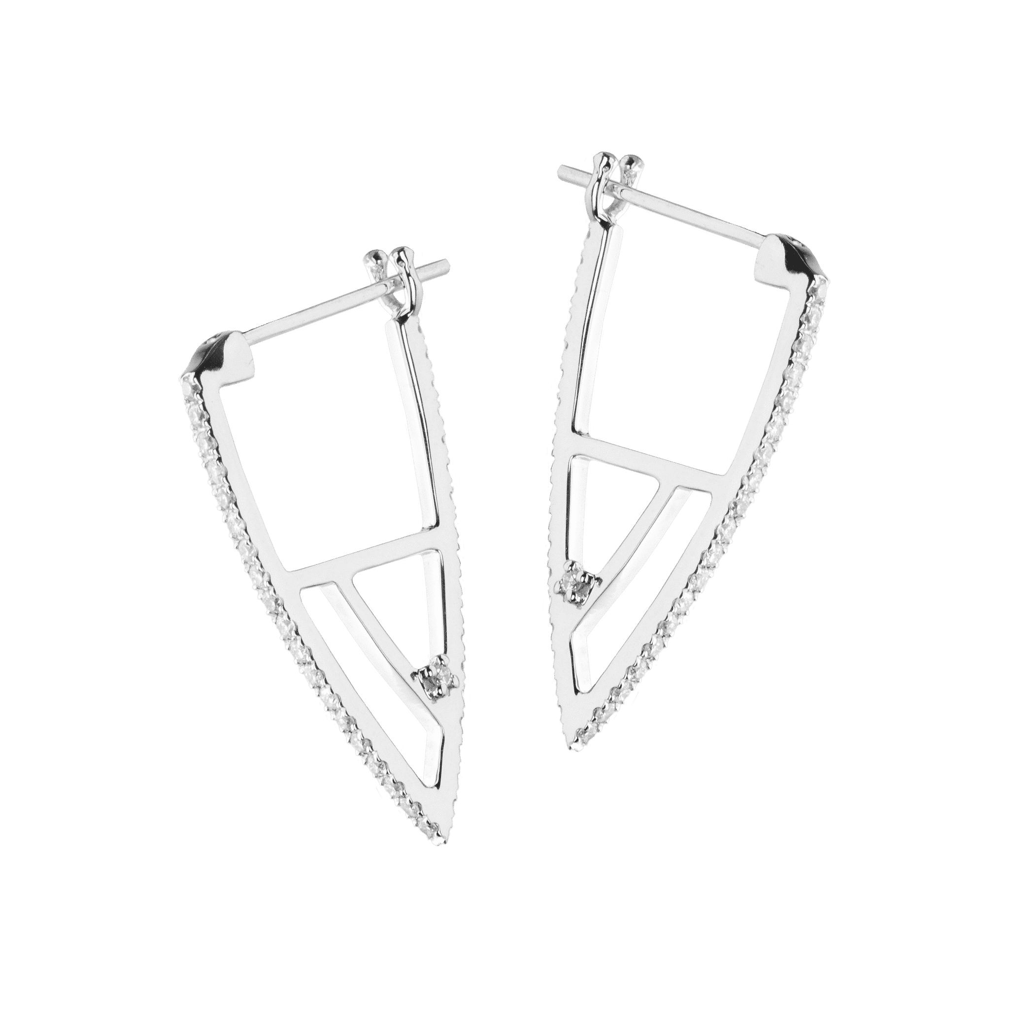 Coïncidence boucle d'oreille or blanc diamant