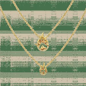 Flamme collier or jaune saphir