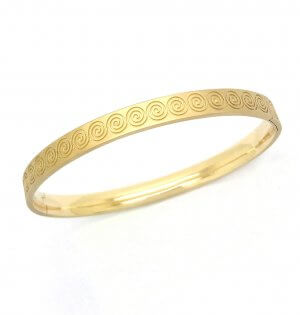 Spirale bracelet or jaune