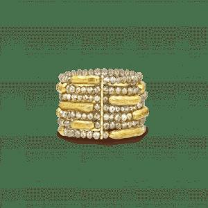 Terre bague or jaune et briollets