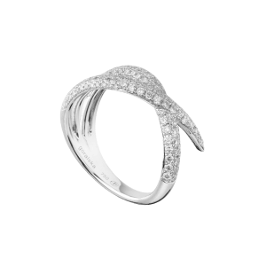Duality bague or blanc diamant