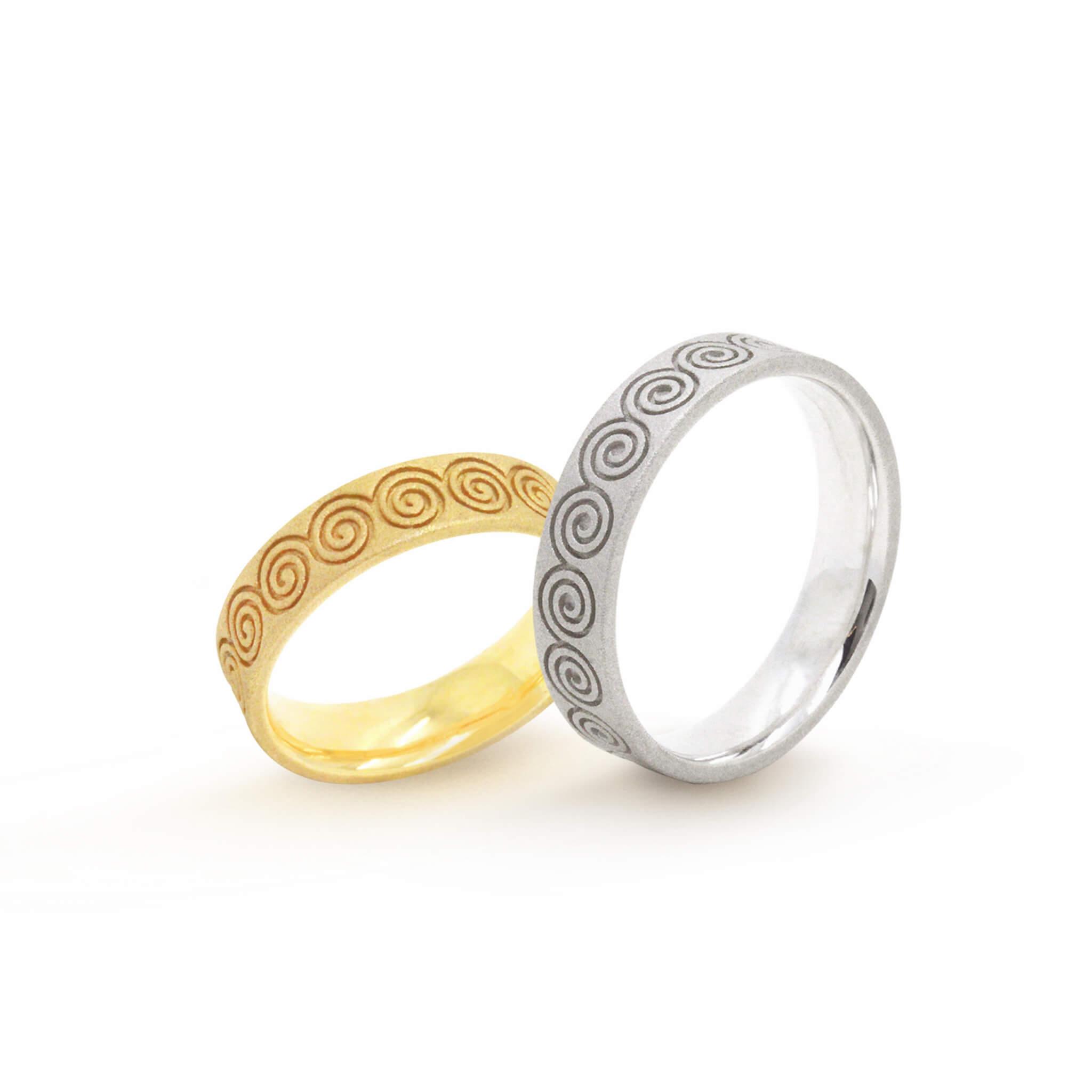 Spirale alliance or jaune or blanc