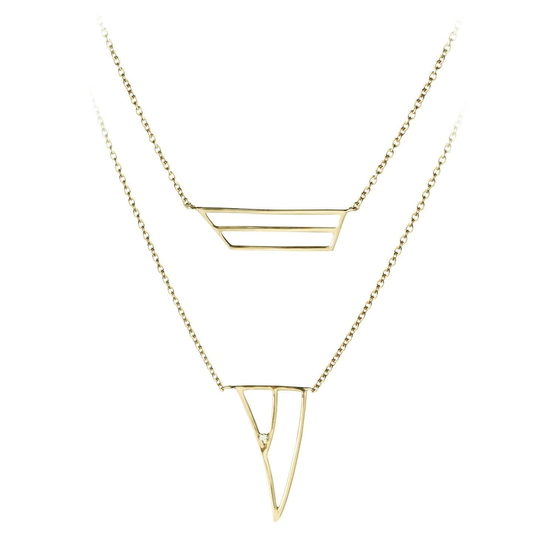 coïncidence collier or jaune diamant