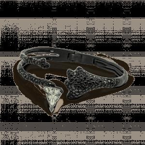 Missible bracelet or noir et saphir blancMissible bracelet or noir et saphir blanc