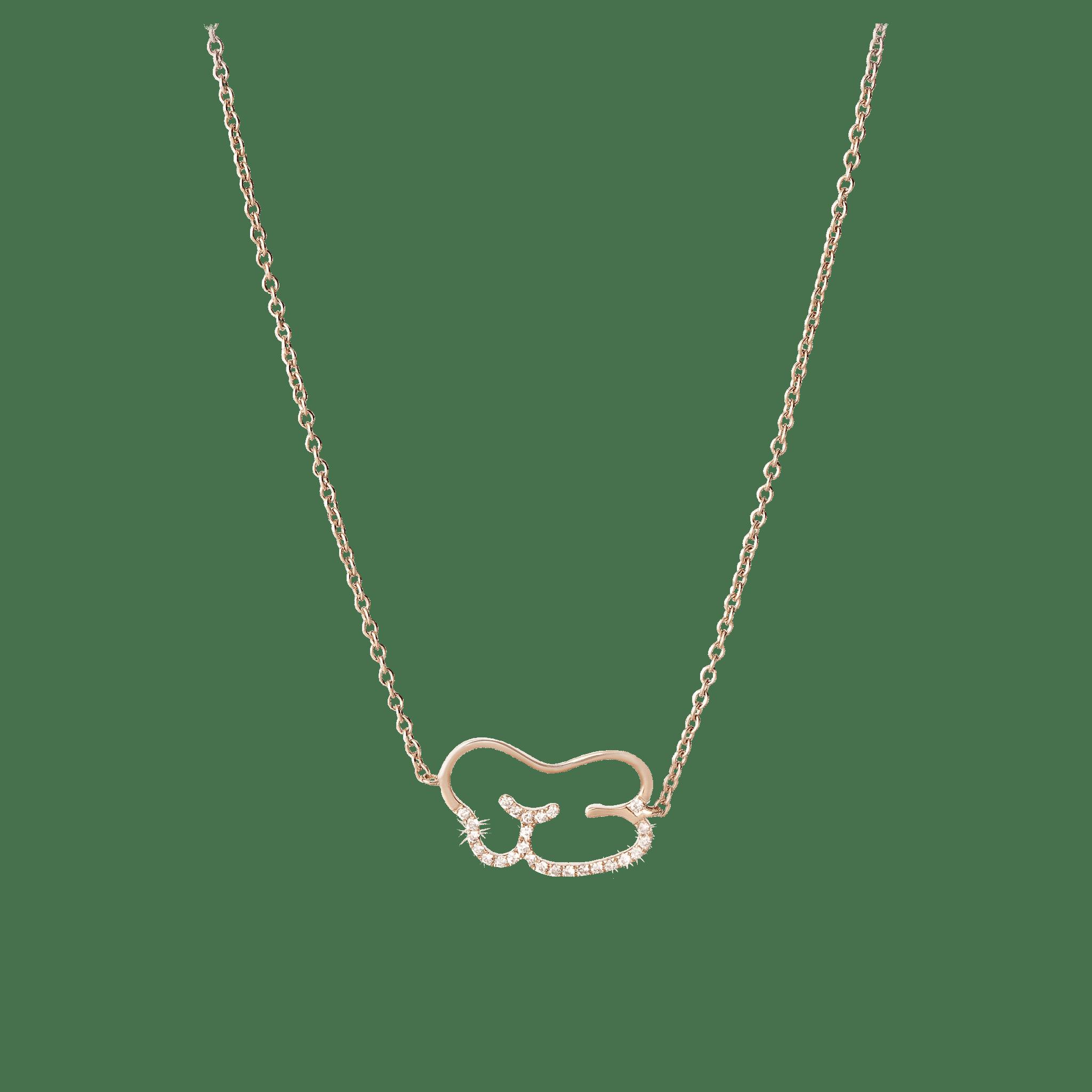 Empreinte collier or jaune et diamant