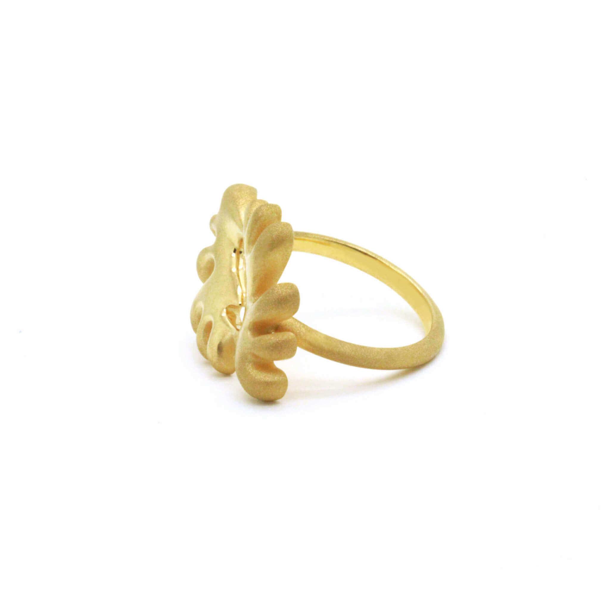 Akan bague bracelet collier or