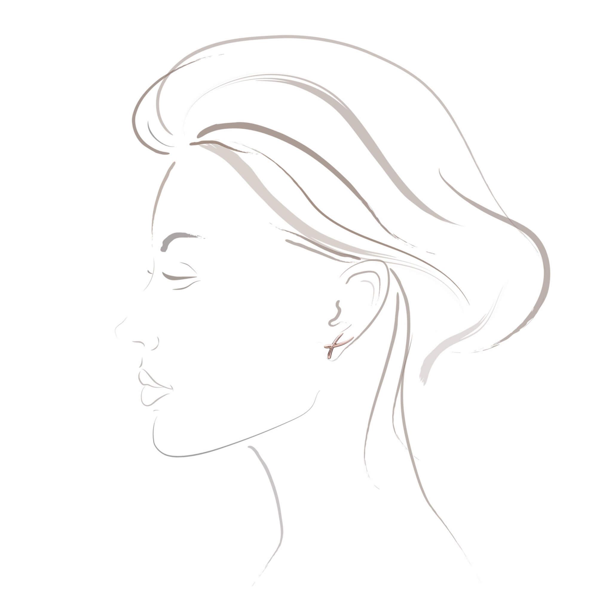 Duality boucle d'oreilles or