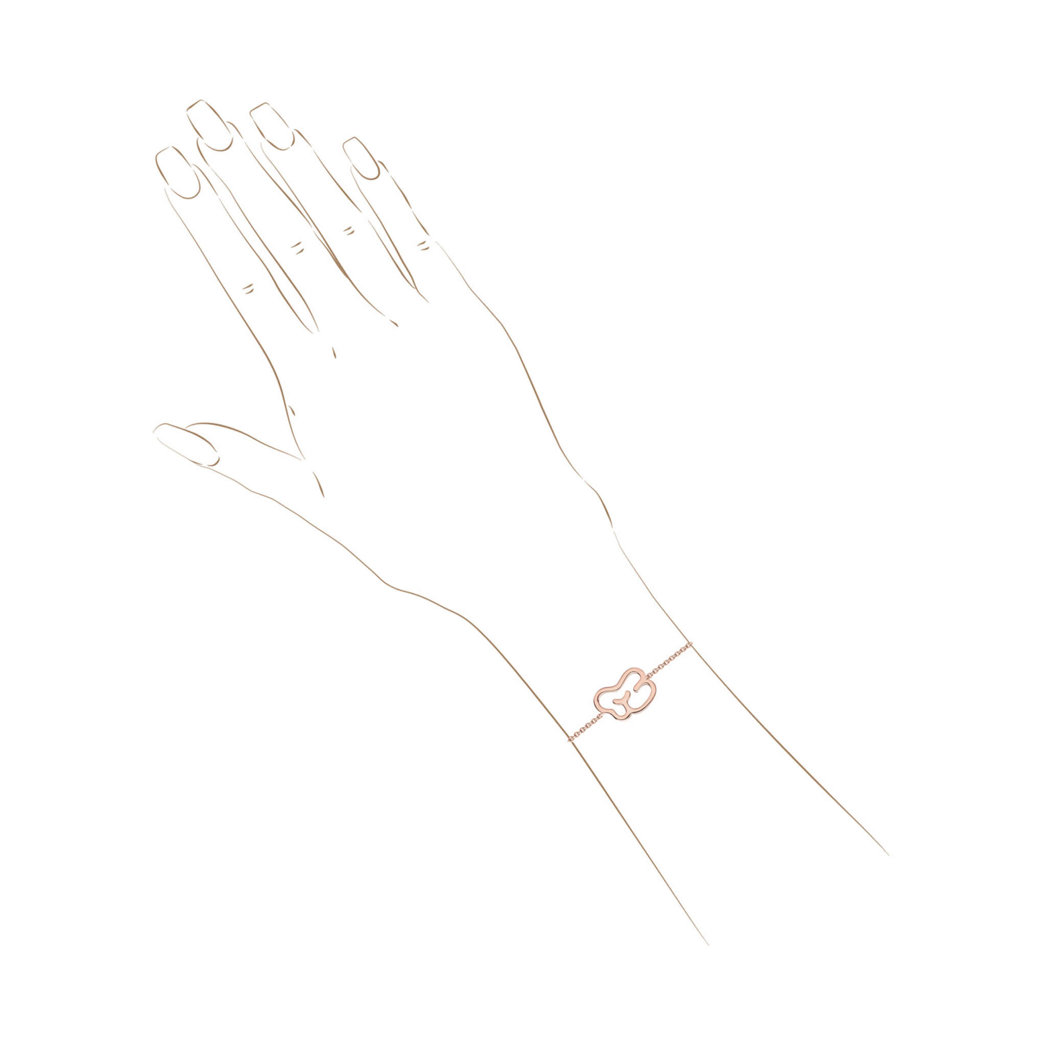 empreinte bracelet or jaune diamant