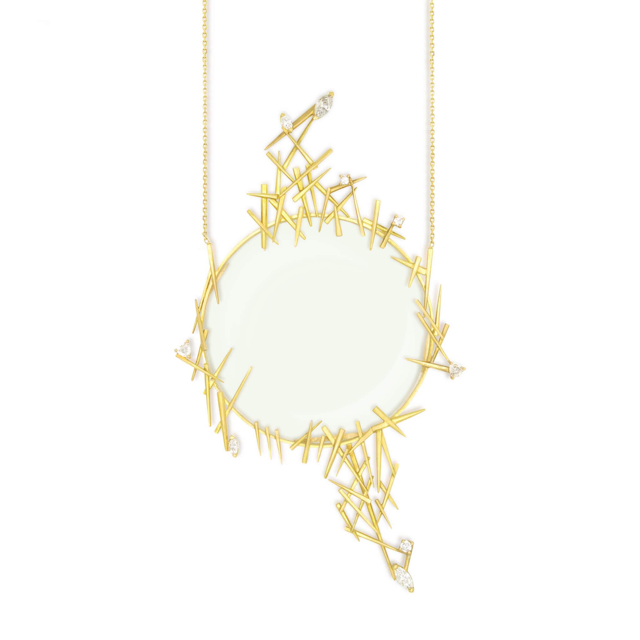 Kalahari pendentif or jaune diamant