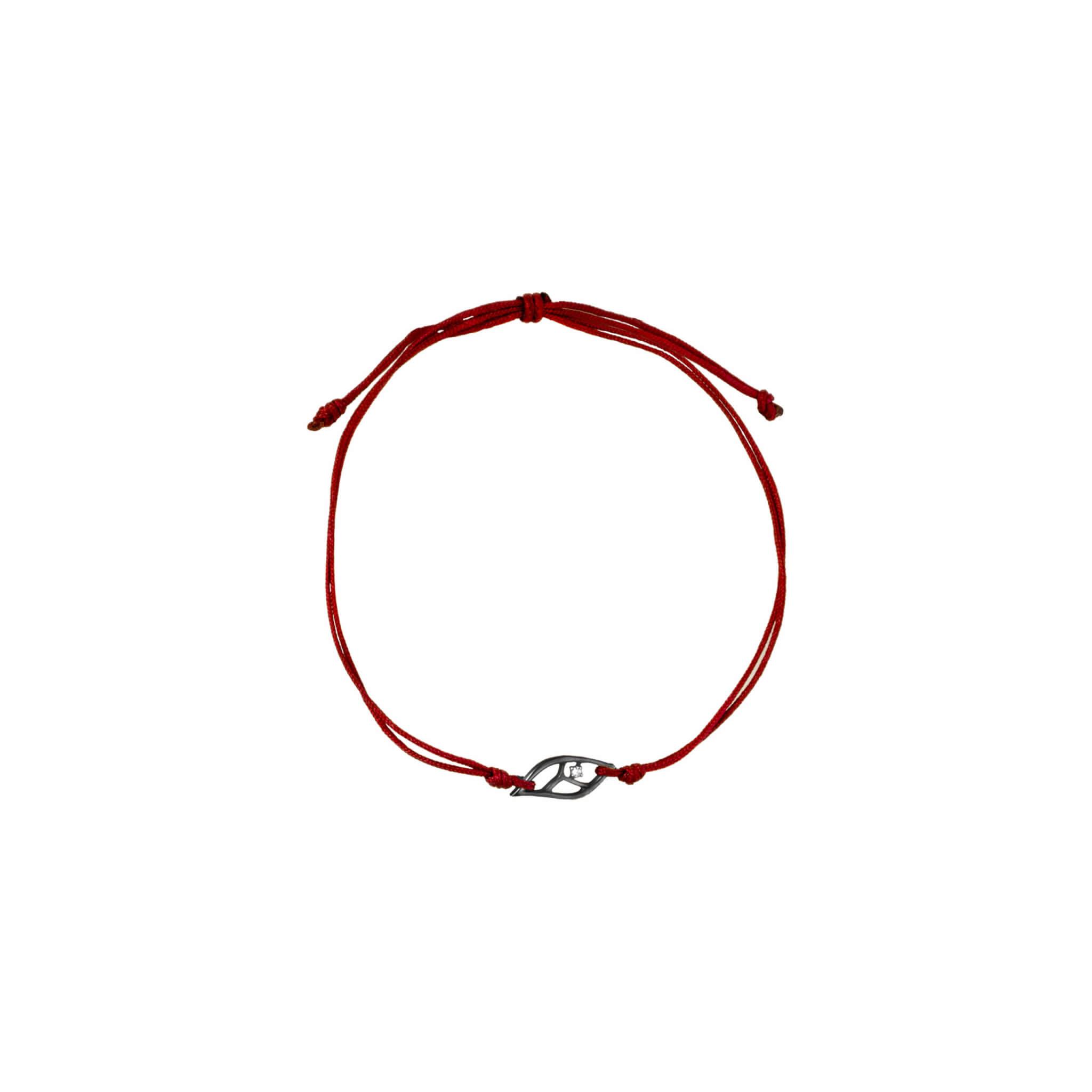 feuille bracelet cordon or