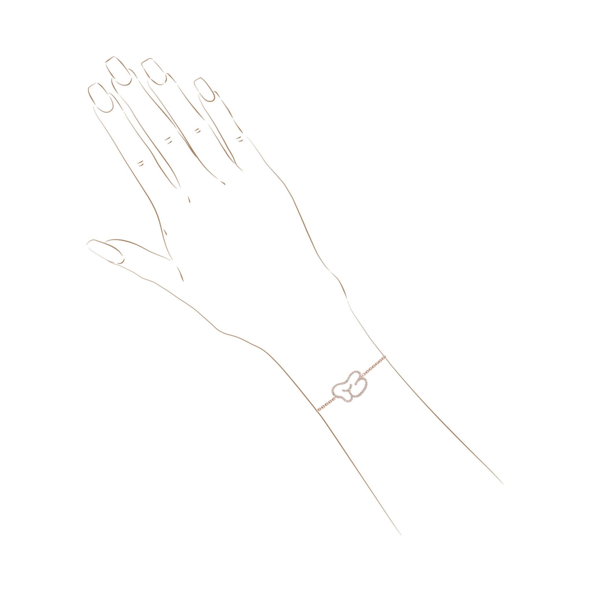 empreinte bracelet or jaune