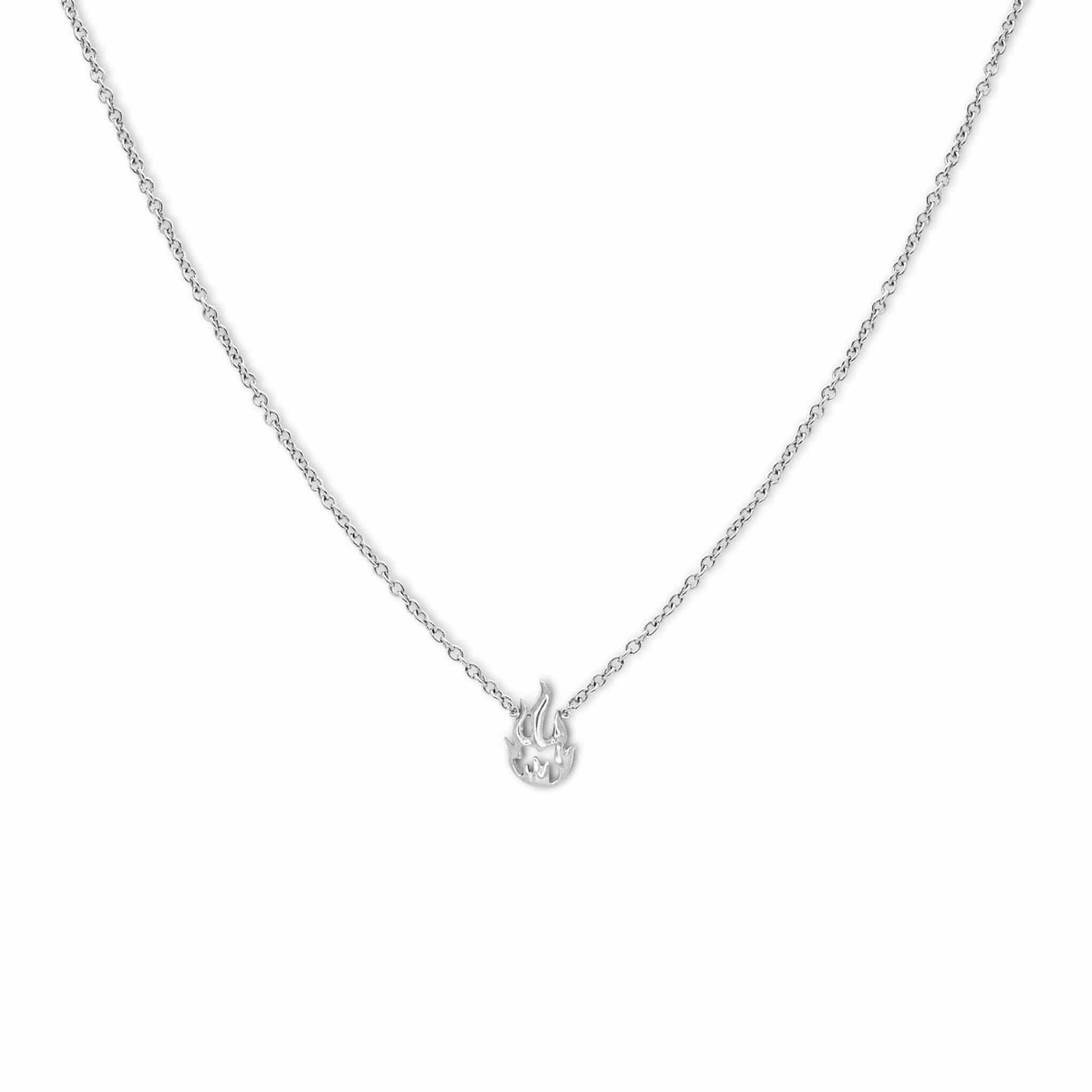 Flamme collier or diamants