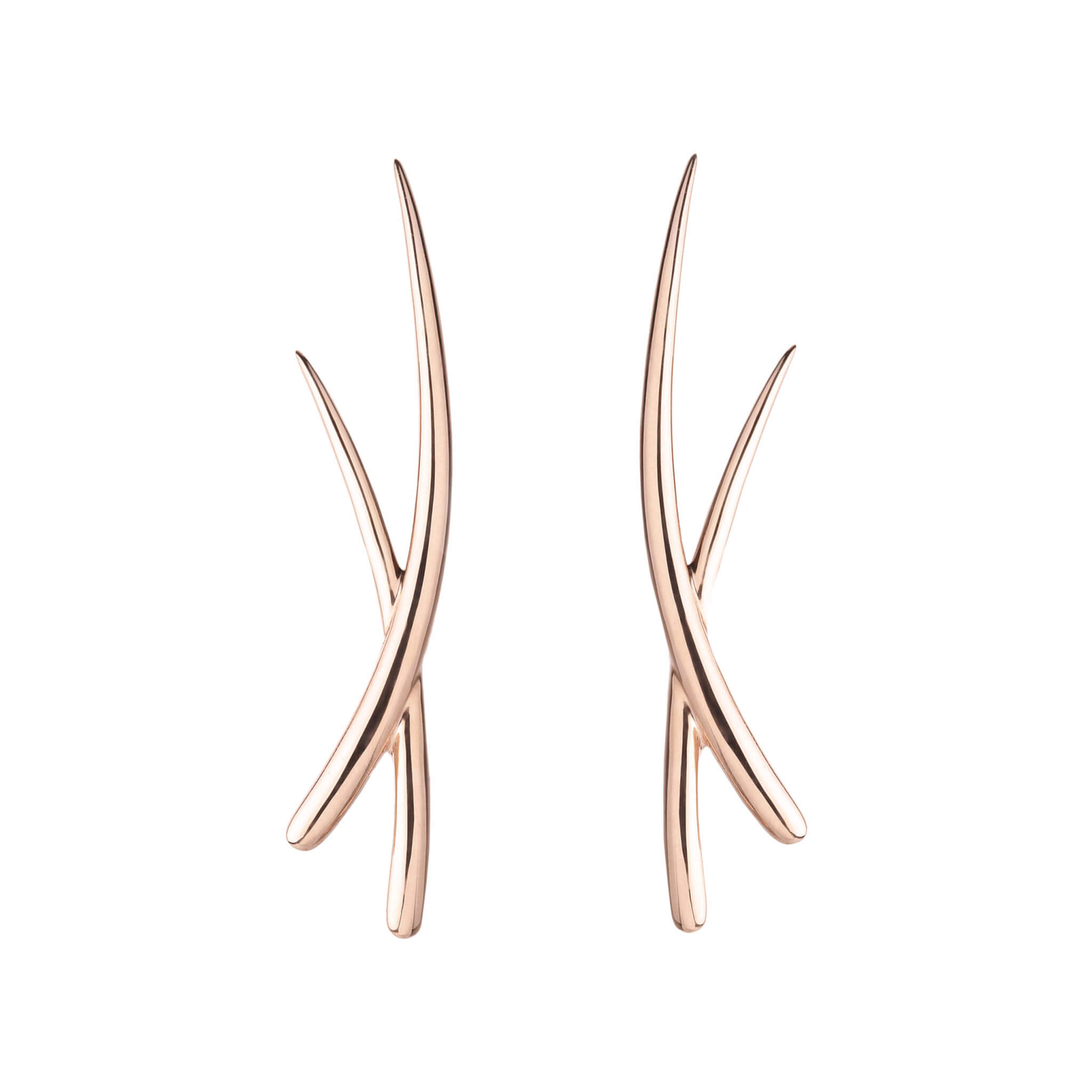 Duality boucle d'oreilles or rose