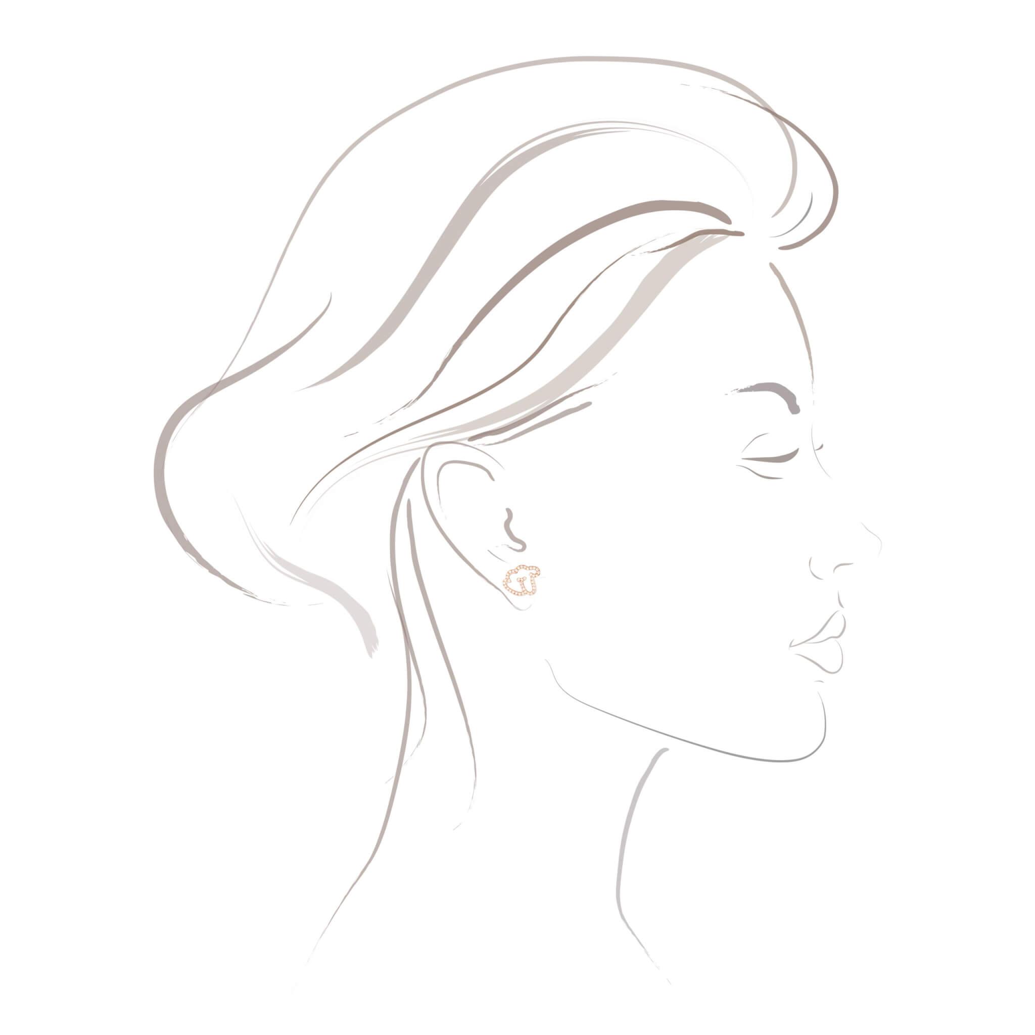 Empreinte boucle d'oreilles or jaune