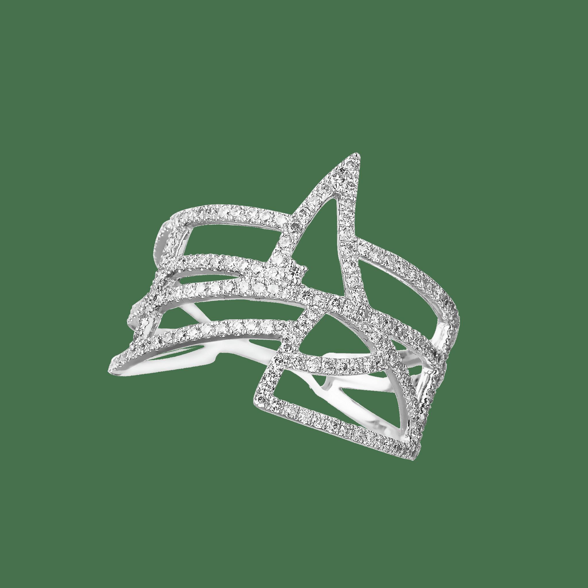 coïncidence bague or blanc diamant