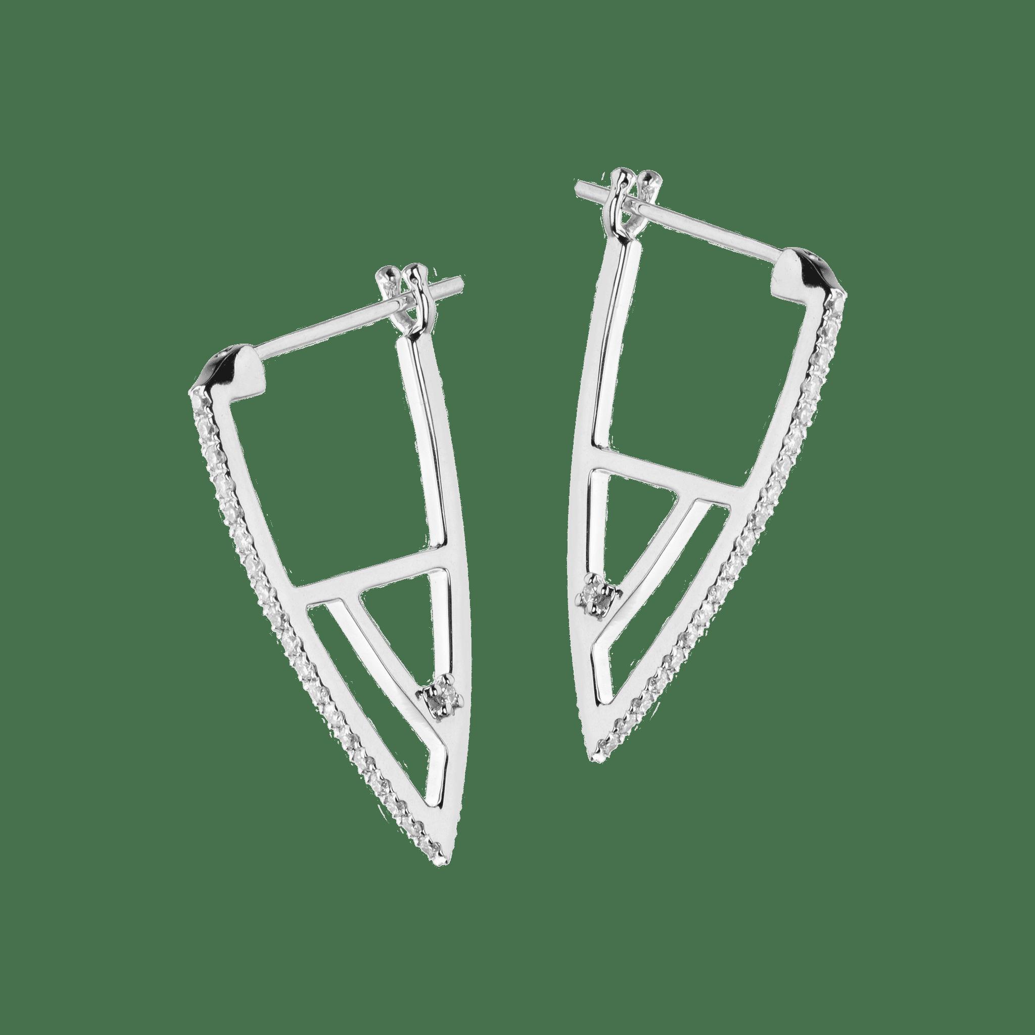 Coincidence boucle d'oreilles or blanc diamant