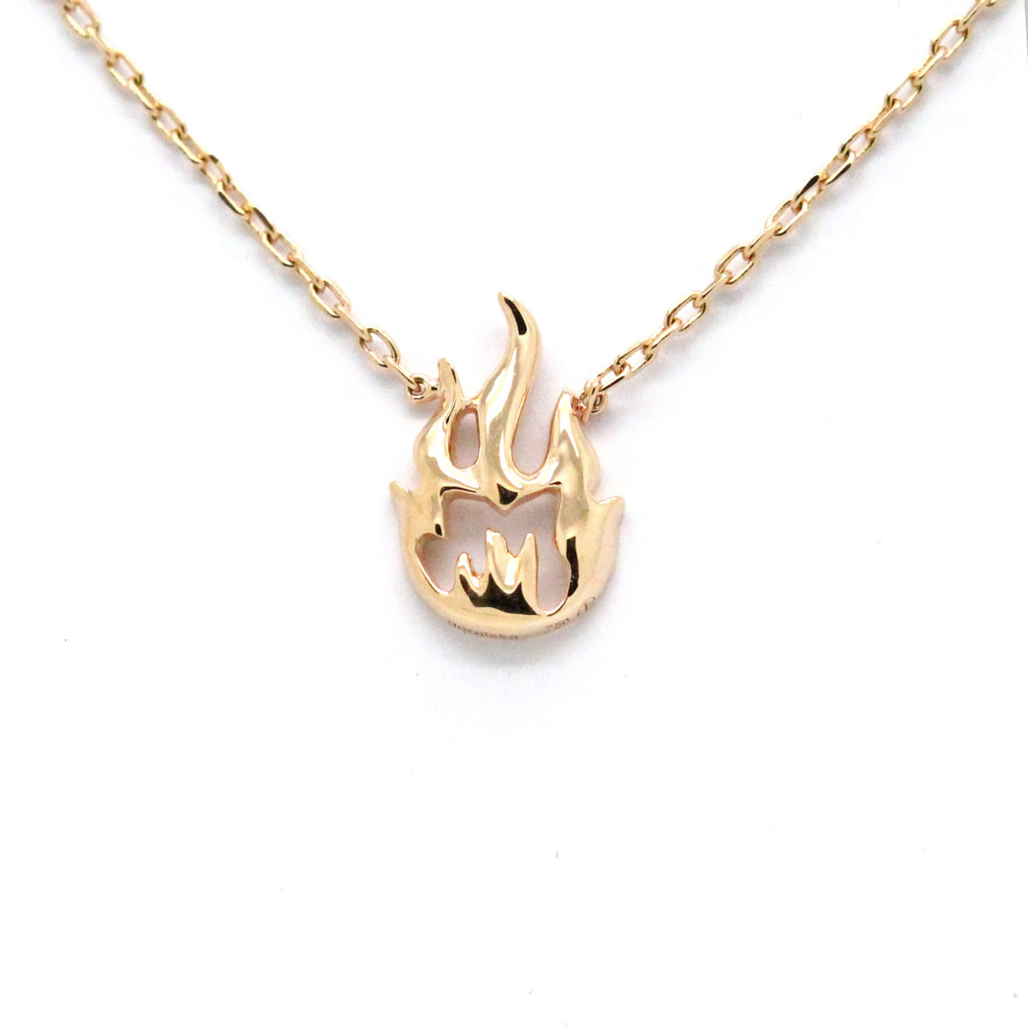 Flamme collier or jaune