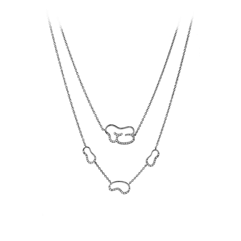 empreinte collier or noir diamant