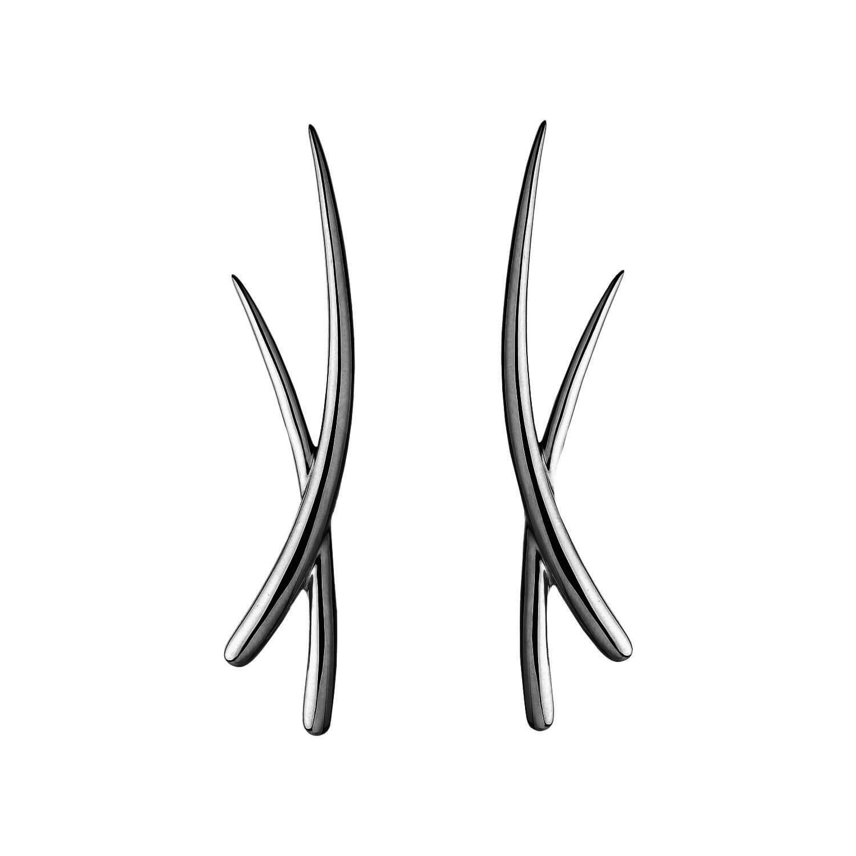 Duality boucle d'oreilles or noir