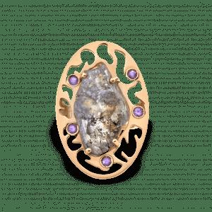 Empreinte bague or rose diamant brut