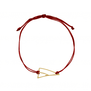 Coincidence bracelet cordon or diamants