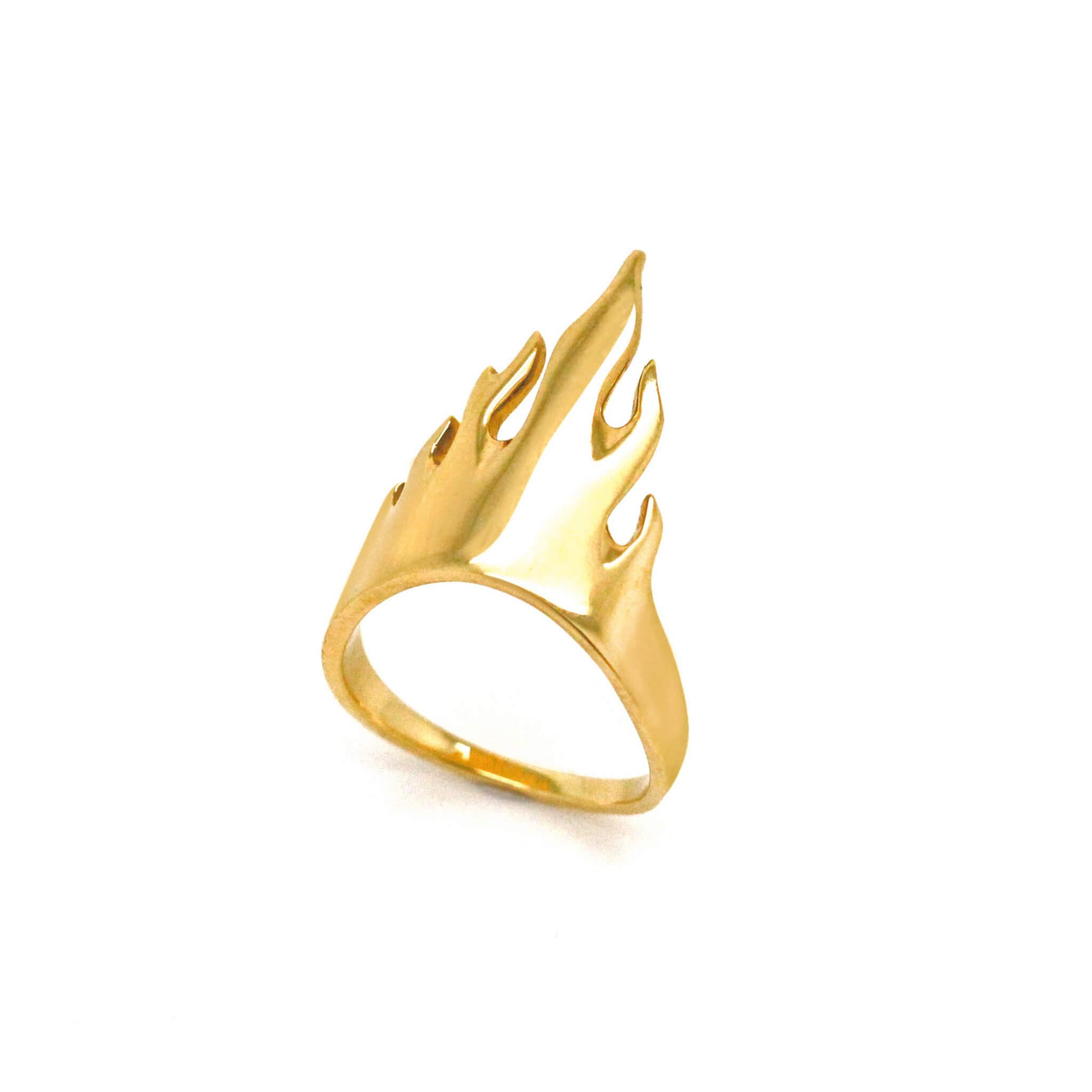 Flamme bague or jaune