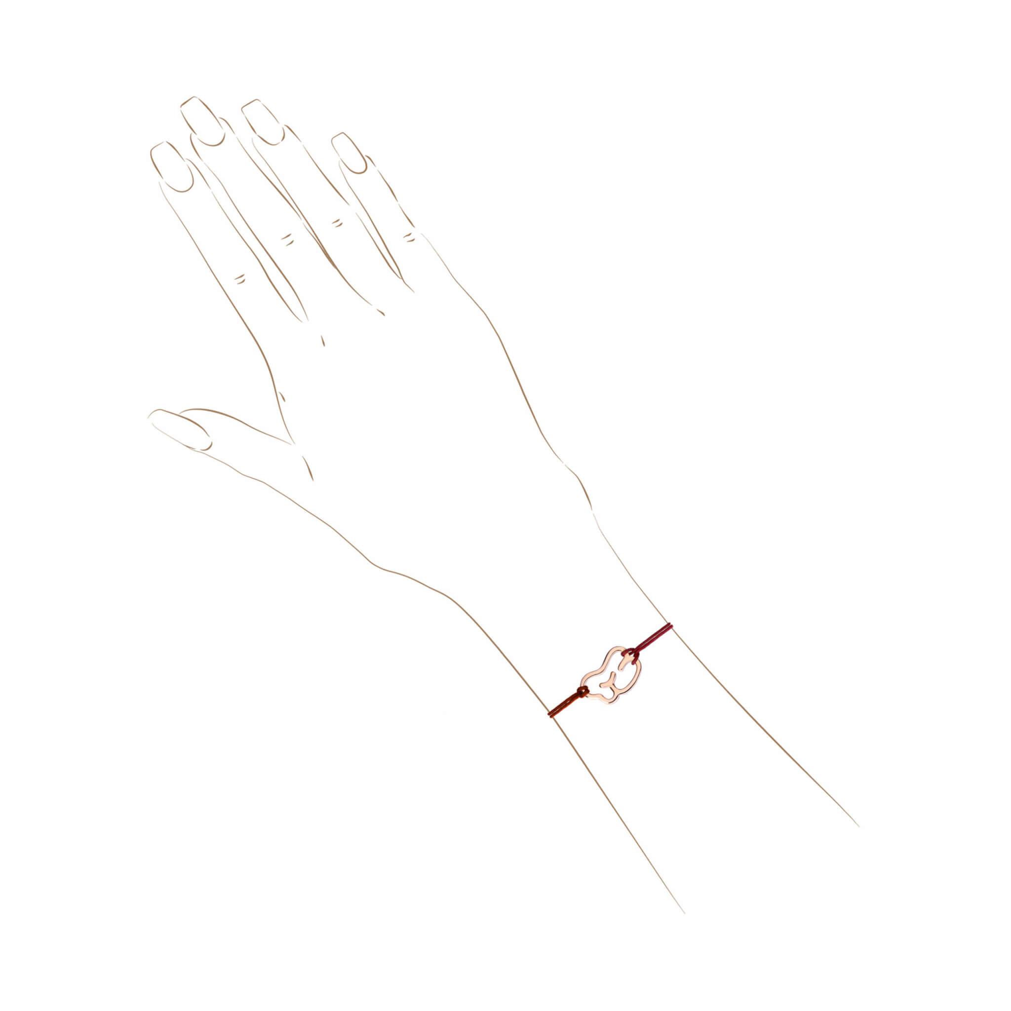 empreinte bracelet or jaune cordon
