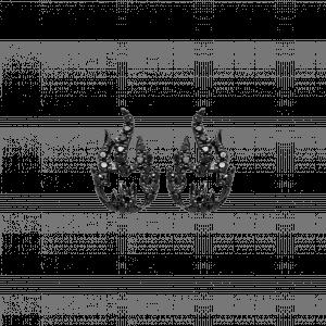 Flamme boucle d oreille or noir diamant noir