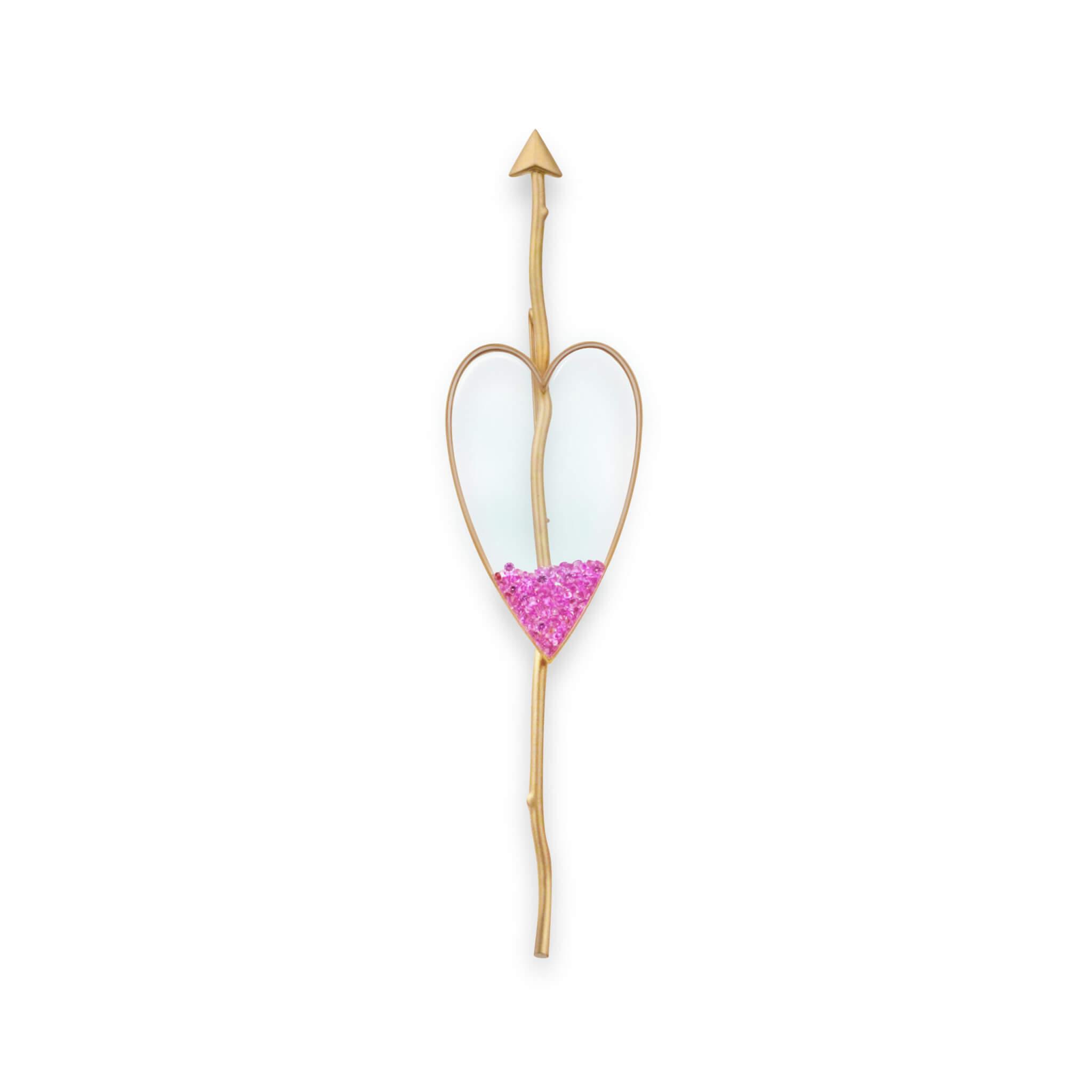 coeur or jaune saphir rose
