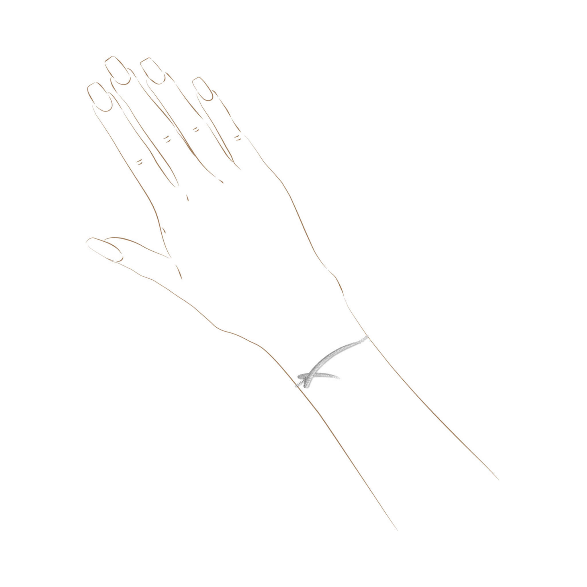 duality bracelet or blanc diamant