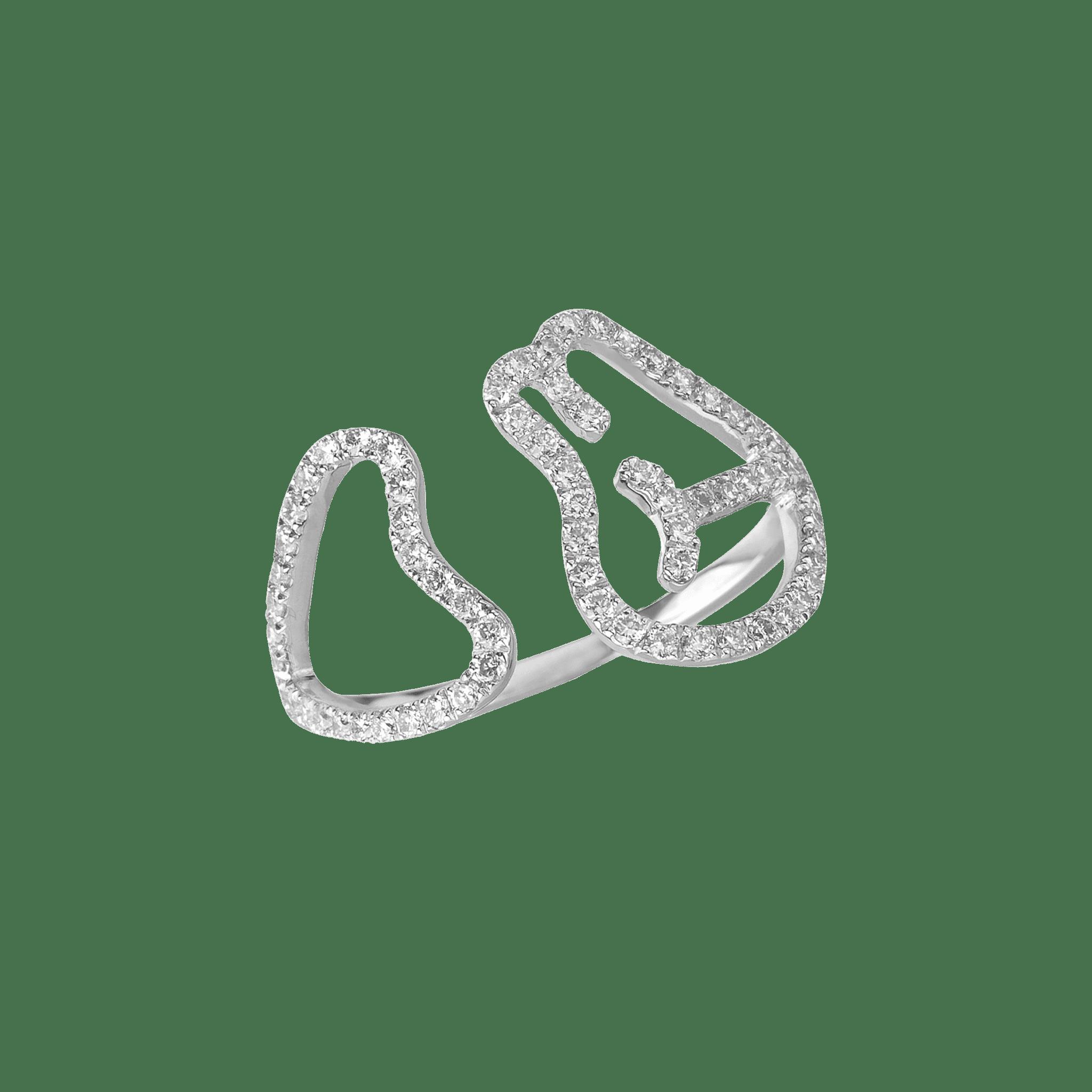 Empreinte bague or blanc diamant