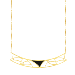 Coïncidence collier or jaune onyx