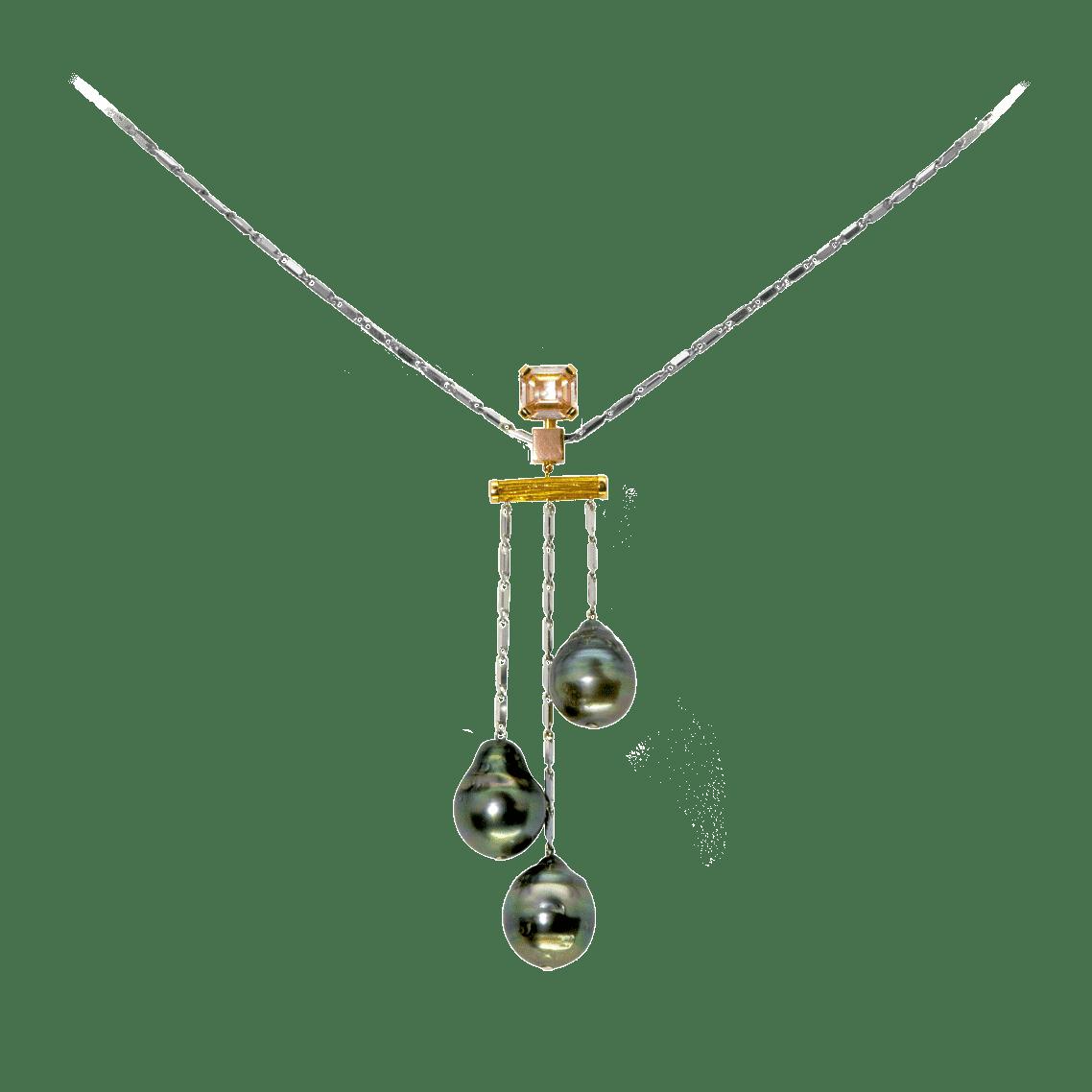 pendentif aux 3 perles