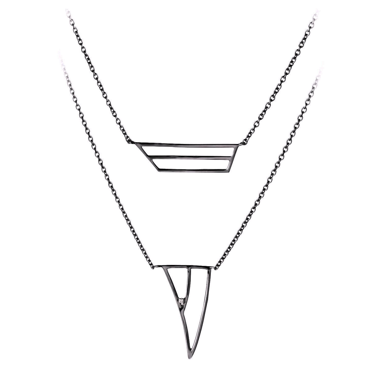 coïncidence collier or noir diamant