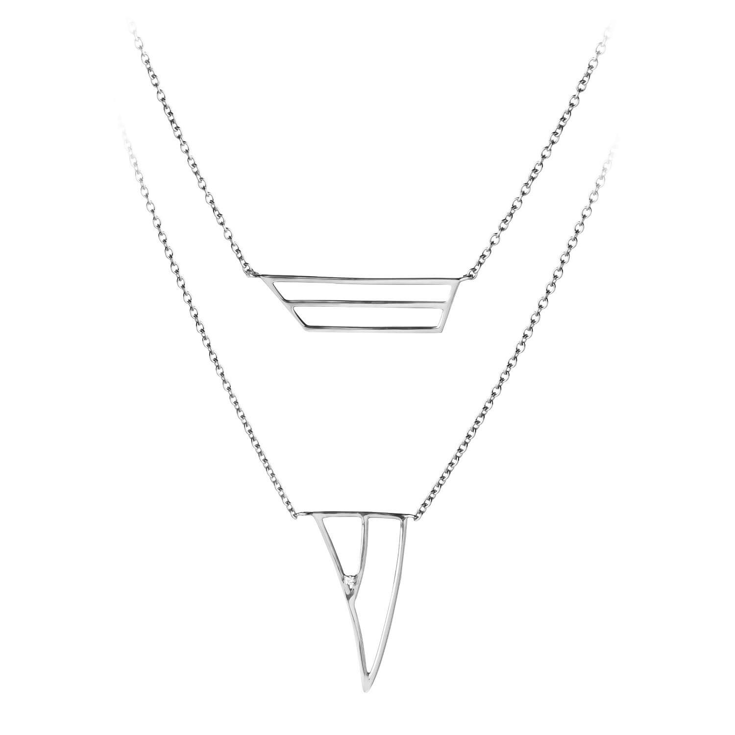 Coïncidence collier or blanc diamant