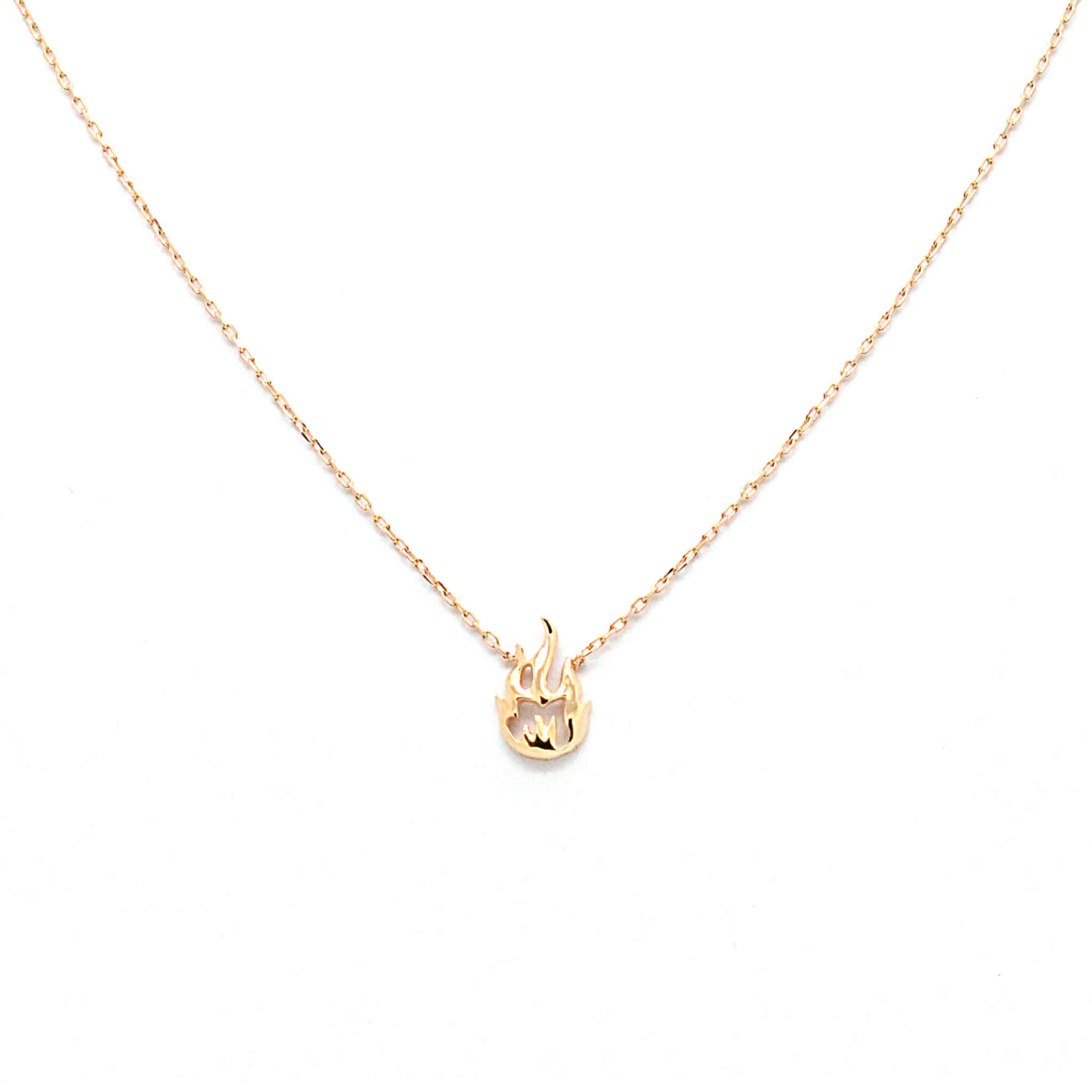 Flamme collier or